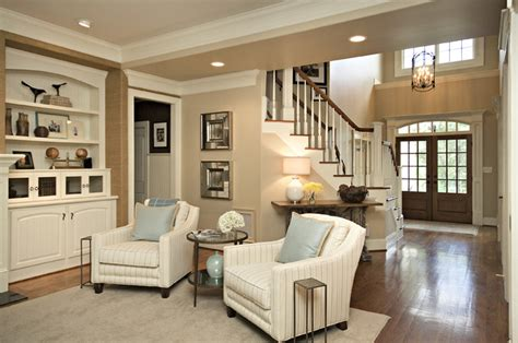 clean simple lines traditional family room raleigh