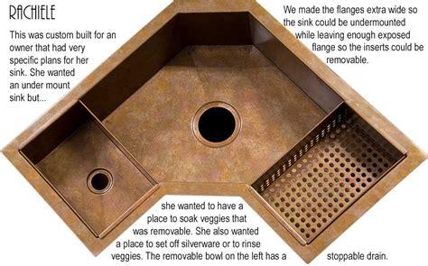 corner kitchen sinks single bowl corner kitchen sink rachiele copper and