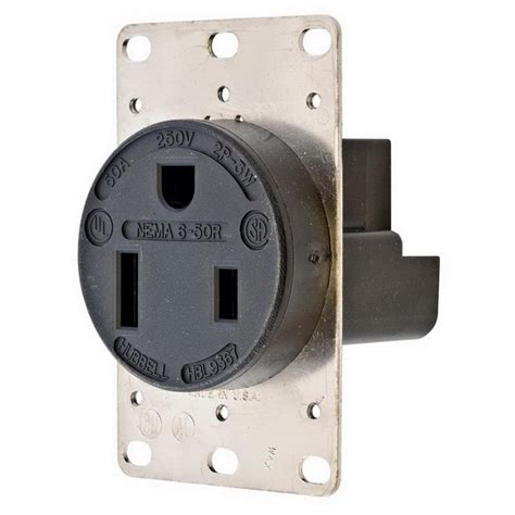 Hubbell Wiring Hbl Straight Blade Single Receptacle