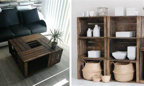 maneras de decorar tu casa utilizando cajas de madera