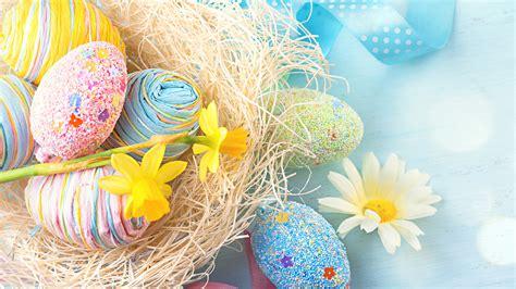 wallpaper easter eggs flower  holidays