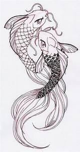 Two cool Koi Fish Ink Drawing | Stuff for School ...