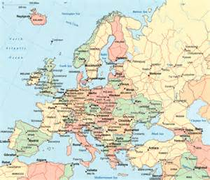 Europe Map Countries Cities