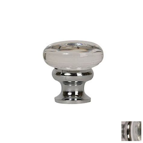 round chrome cabinet knobs shop lew 39 s hardware mushroom glass polished chrome round