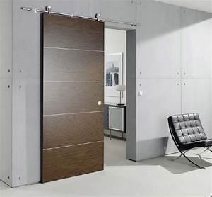porte coulissante deco en bois With porte de garage et porte intérieure coulissante sur mesure