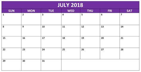 free 2018 calendar template word july 2018 calendar printable calendar 2018 printable