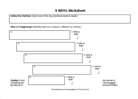 5 Why Dmaic Tools 5 Whys Template Excel Xls Spreadsheet Calendar Template