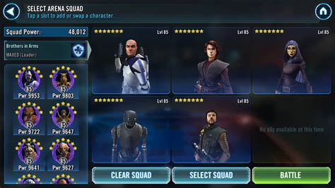 star wars galaxy  heroes anti sith rex lead team