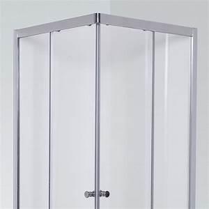 porte de douche d39angle avec 2 coulissants nerina 90x90 With porte douche 90x90