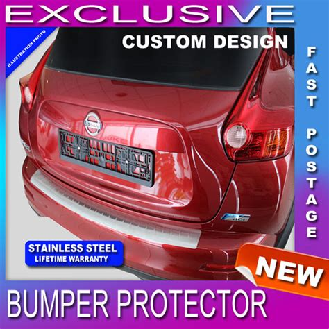 rear bumper sill protector stainless steel for nissan qashqai j11 mk2 2014 up ebay