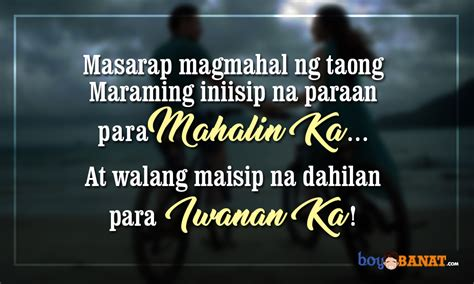 tagalog love quotes boy banat