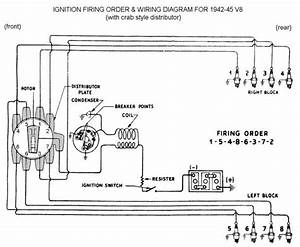 Spark Plug Wiring For 1942 To 45  Ford