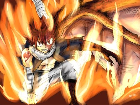 wallpaper natsu dragneel fairy tail flames dragon