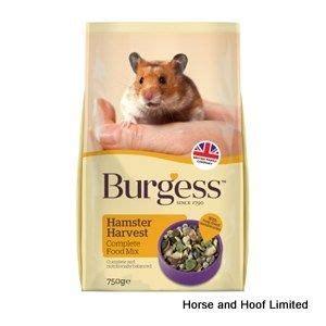 750g cuisine burgess hamster harvest food 9 x 750g