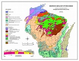 Wisconsin - Bedrock Geology | Geology, Wisconsin, Tours