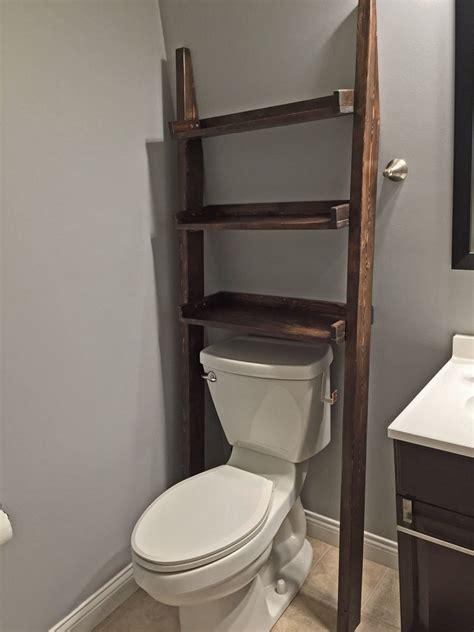 ana white leaning bathroom ladder shelf diy projects