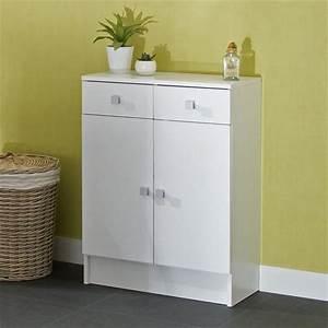 Meuble De Salle De Bain En Solde : galet meuble de salle de bain l 60 cm blanc achat ~ Edinachiropracticcenter.com Idées de Décoration
