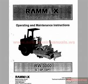 Rammax Rw 3000s  Sp  Spt Operating And Maintenance