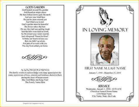 Funeral Brochure Template Word Funeral Brochure Template Word Csoforum Info