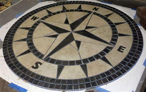 36 quot handcrafted porcelain tile classic compass mosaic