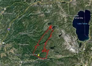 King Fire Map California