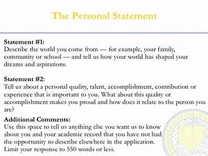personal statement about yourself sample