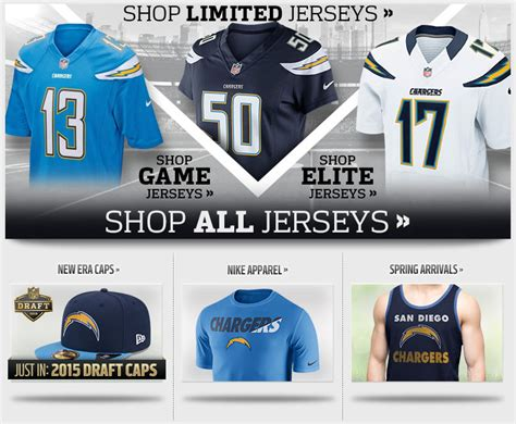 Buy Chargers Nike Jerseys, Hats