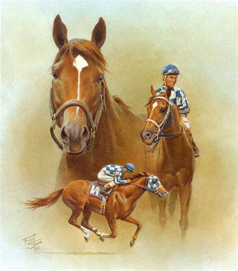 secretariat collectible race horse equine art prints