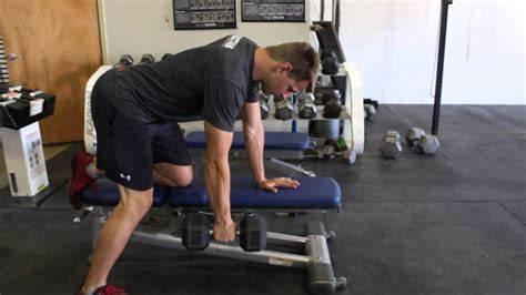 arm dumbbell rows  bench youtube