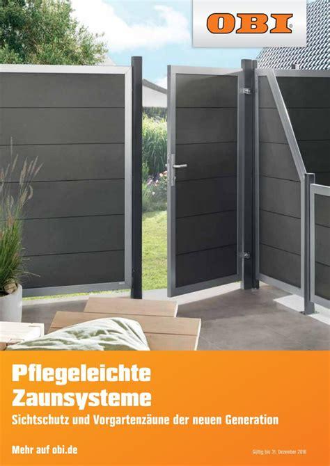 Sichtschutz Garten Obi by Zaunelemente Holz Sichtschutz Obi Denvirdev Info