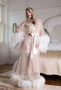 Serena Ostrich Feather Robe