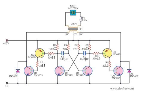 Simple Inverter Circuit Diagram Using