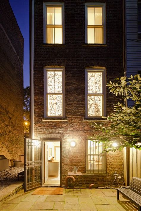 decorative story townhouse 12 footer in lower slope brick houses patio gardens and
