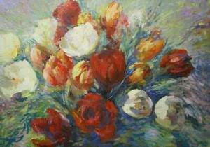 Blumen Gemälde In öl : gem lde blumen tulpen l leinwand 50x70 impressionismus ~ A.2002-acura-tl-radio.info Haus und Dekorationen