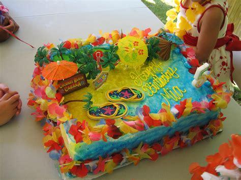 mia s hawaiian luau birthday party cake a photo on