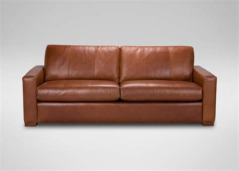 leather loveseat hudson leather sofa sofas loveseats ethan allen