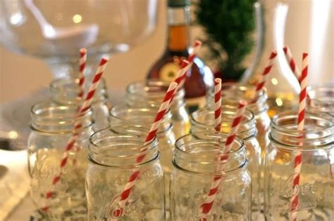 mason jars  candy cane straws pictures