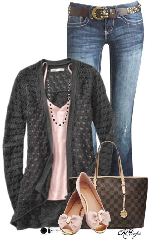 Gray and Pink Casual Spring Outfit u2013 Summer Fashion New Trends