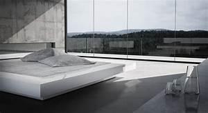 Bett Mit Stauraum 180x200 : bett visum wei es puristisches design bett von rechteck ~ Frokenaadalensverden.com Haus und Dekorationen