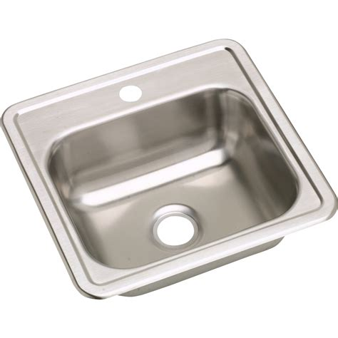 elkay bar sink 15x15 shop elkay dayton satin 1 stainless steel drop in
