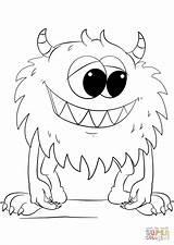 Coloring Monster Cartoon Printable Supercoloring Drawing sketch template