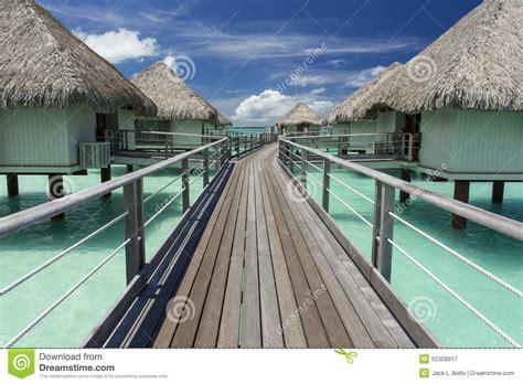 Vacation Huts At Bora Bora Stock Image Image Of Building