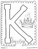 Coloring King Jesus Kings Pages Bible Alphabet Josiah Letter Sheet Colouring Children Printable Sunday Holy Crown Preschool Christ Worksheets Sheets sketch template