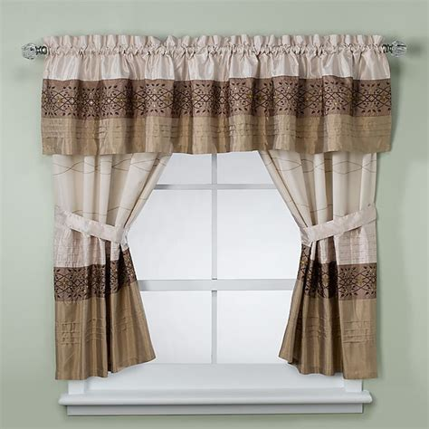 kas romana bathroom window curtain pair  taupe bed