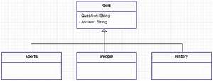 C  - Class Diagram For A Quiz