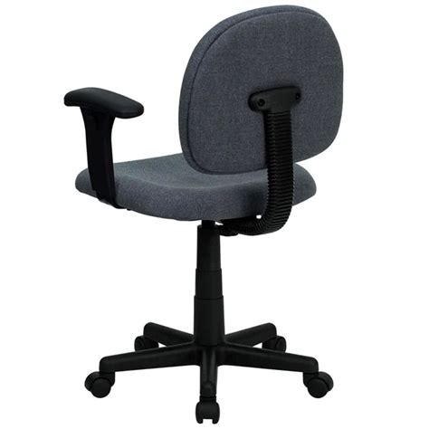 mid back gray ergonomic office chair task chair with