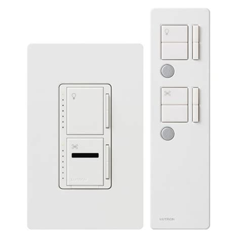 difference between lutron ceiling fan wall switch remote