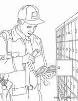 Colorear Coloring Postal Coloriage Office Postman Facteur Colorir Correo Cartero Desenho Oficinas Kleurplaat Carteiro Aux Postbode Caixa Ausmalen Dibujos Zum sketch template