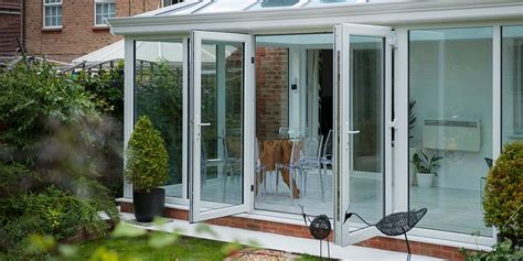 large glass  floor conservatory  french doors