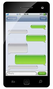 green iphone clipart With iphone sms template